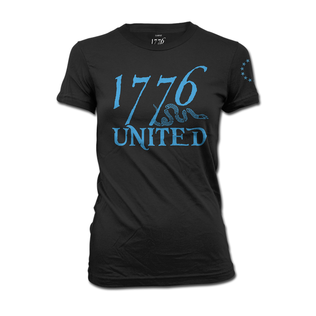 1776 United® Logo Tee - Black - Women's - Shirt - 1776 United