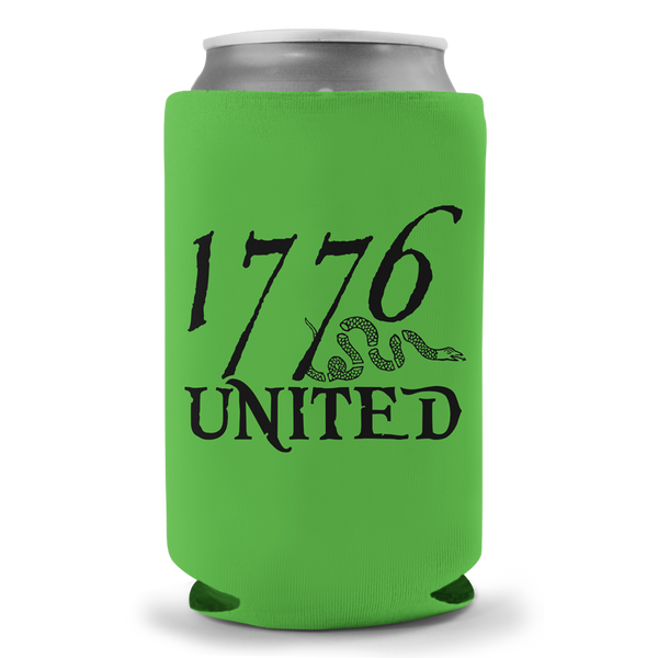 1776 United® Logo Beer Sleeve - Green - Beer Sleeve - 1776 United