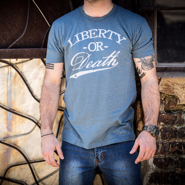 Liberty Or Death Shirt - Indigo