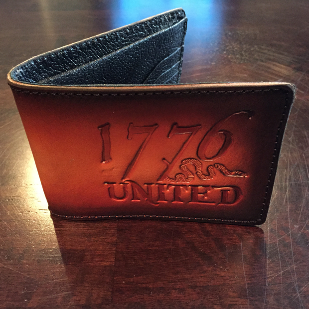 1776 United® Bifold Leather Wallet - Leather Wallet - 1776 United