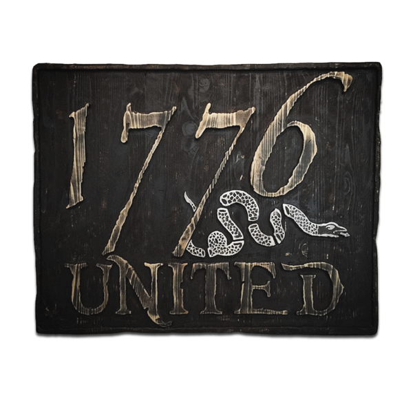 Hand Crafted Wooden 1776 United© Sign
