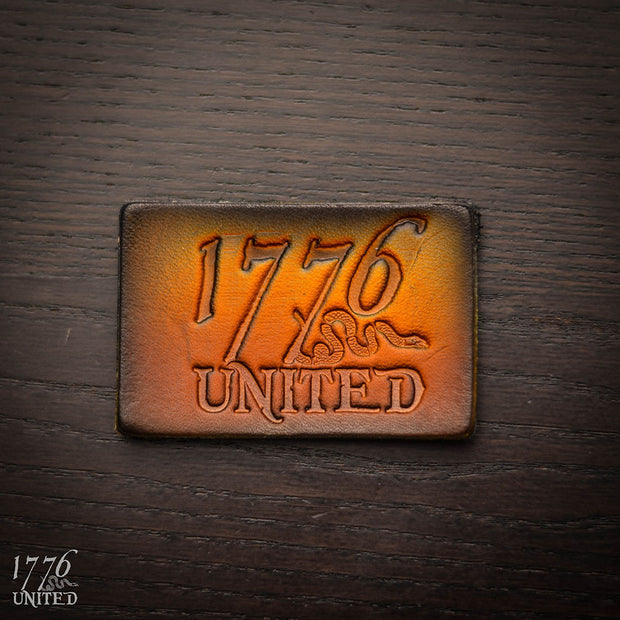 1776 united logo leather patch 1776 united logo leather patch