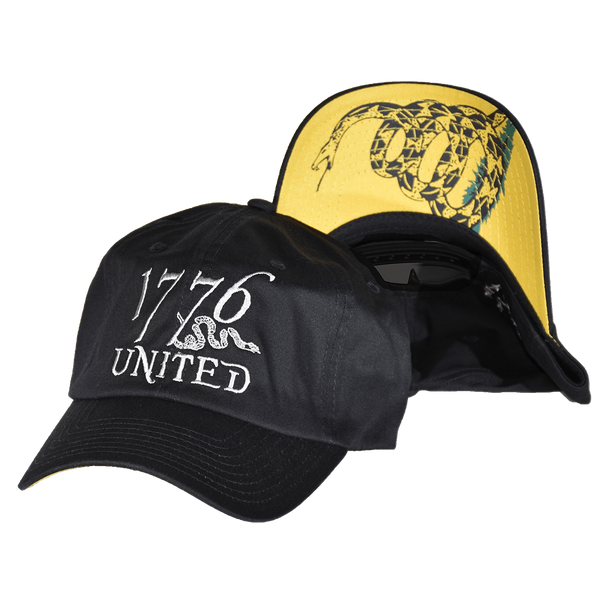 d84020ecc4982 1776 United® Logo Snapback Don t Tread On Me Edition - CURVED ...