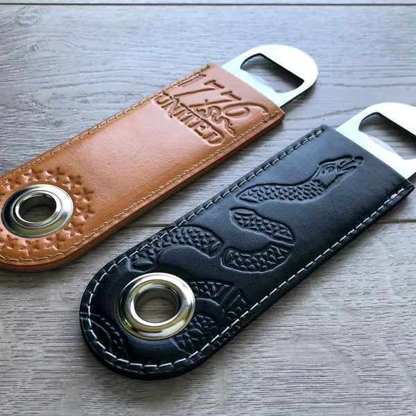 Leather Wrapped Bottle Opener