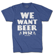 We Want Beer - Royal Blue