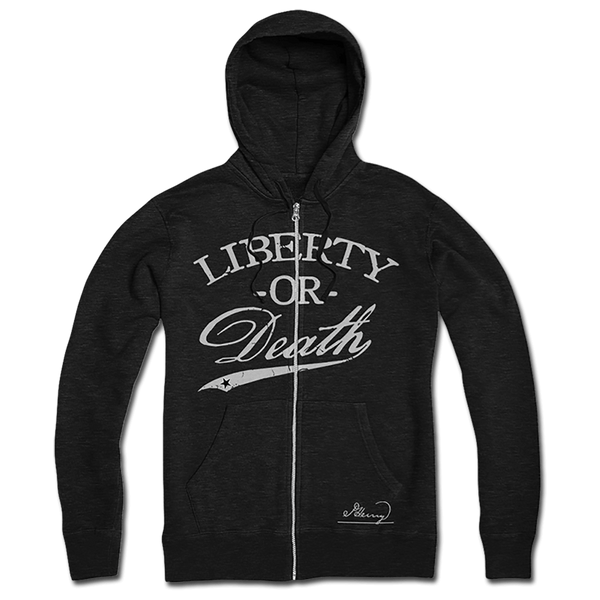 Liberty Or Death Zip-Up - Black