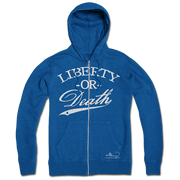 Liberty Or Death Zip-Up - Blue