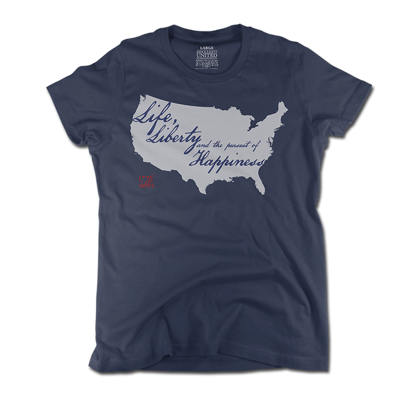 Life and Liberty - Navy - Women's - Shirt - 1776 United