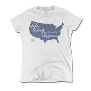Life and Liberty - White - Women's - Shirt - 1776 United