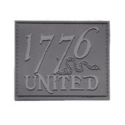 1776 United®PVC Logo Patch - Blacked Out