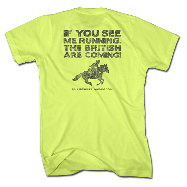 Paul Revere Run Team - Neon Yellow - Shirt - 1776 United