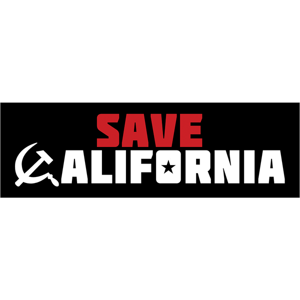Save California Bumper Sticker - Bumper Sticker - 1776 United