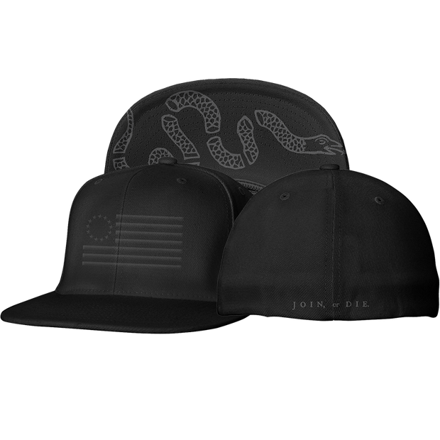 The Original Thirteen Flexfit Blacked Out Edition - Hat - 1776 United
