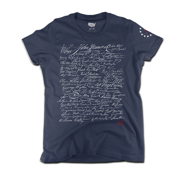The Signers - Navy - Women's - Shirt - 1776 United