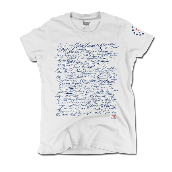 The Signers - White - Women's - Shirt - 1776 United