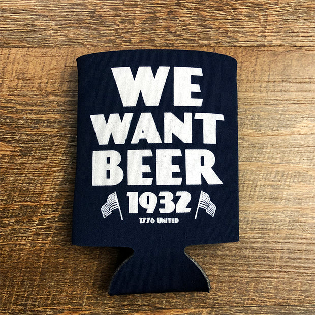 We Want Beer Sleeve - Navy