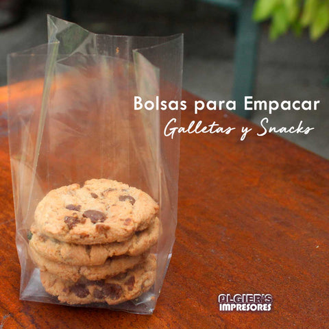 Bolsas para Empacar Galletas y Snacks Transparente