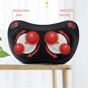 Shiatsu Deep Tissue Massage Heat Therapy Pillow
