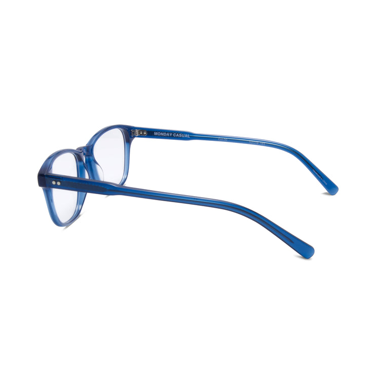 Archer prescription eyewear frame from Monday Casual in Ocean/Blue acetate. Archer includes premium quality optical lenses.