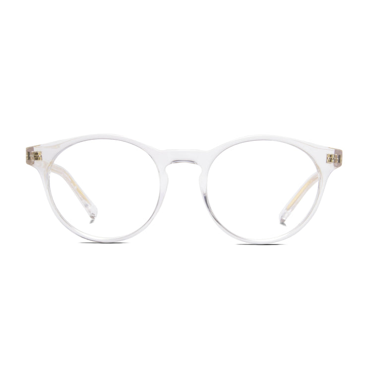 Archer prescription eyewear frame from Monday Casual in Crystal/clear acetate. Archer includes premium quality optical lenses.