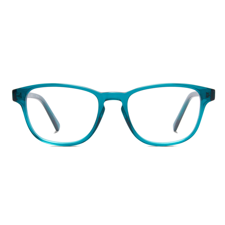 Archer prescription frame from Monday Casual in Matcha/Green acetate. Archer includes premium quality optical lenses.