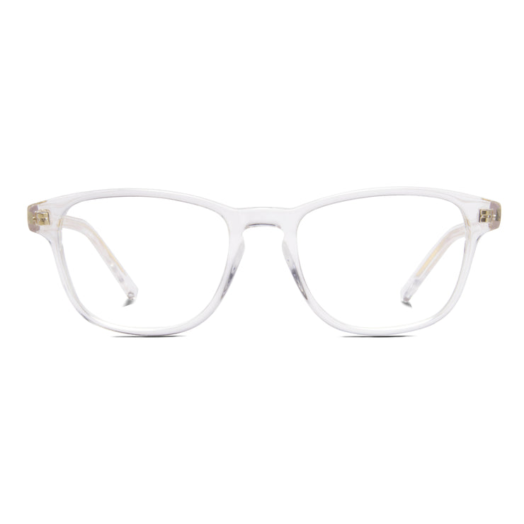 Archer frame from Monday Casual in Crystal/Clear acetate. Archer includes premium quality optical lenses.