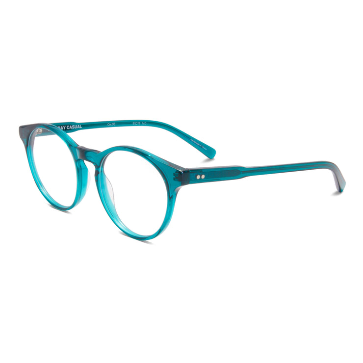 Archer prescription eyewear frame from Monday Casual in Matcha/Green acetate. Archer includes premium quality optical lenses.