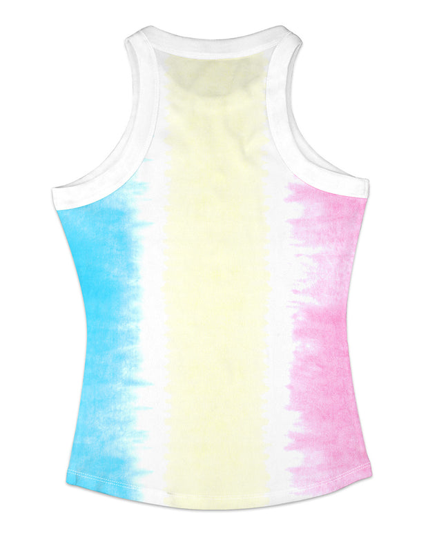 Colorblock Contrast Binding Casual Tank Top