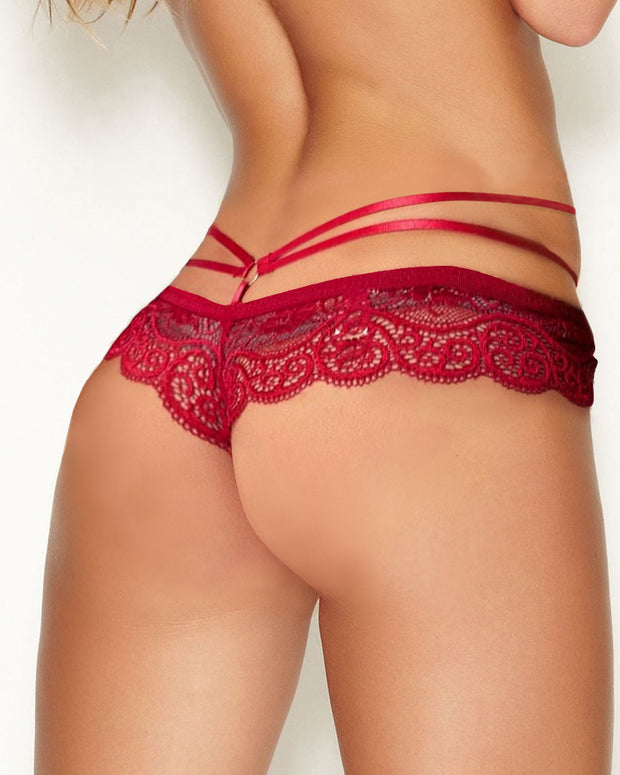 Lace Cutout O-Ring Design Panty