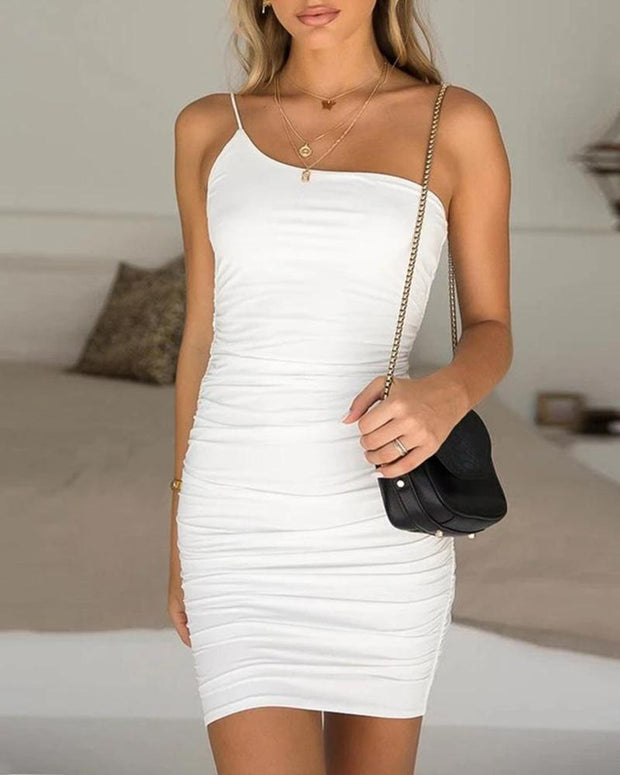 One Shoulder Bodycon Mini Dress