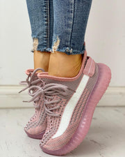 Colorblock Breathable Lace-Up Casual Sneakers