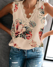 Eyelash Sleeveless Lace Top