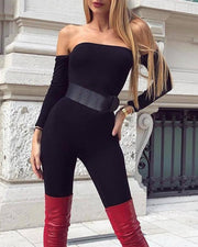 Off Shoulder Tube Jumpsuit