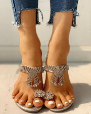 Studded Design Casual Heeled Sandals