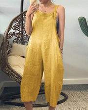 Square Neck Overall Jumpsuit