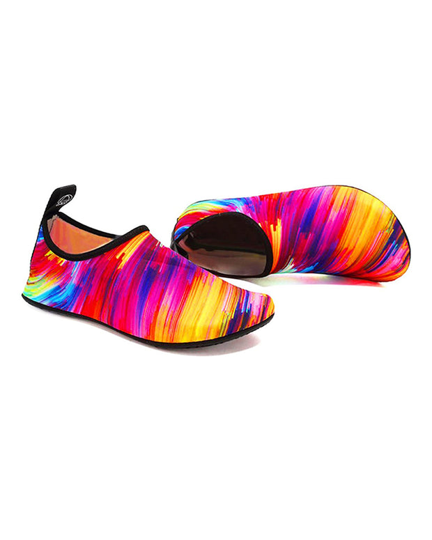 Print Colorblock Breathable Barefoot Aqua & Yoga Shoes Socks