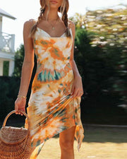 Tie Dye Cowl Neck Cami Dress