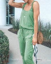 Scoop Neck Loose Fit Tank Jumpsuit