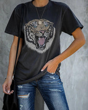 Tigerhead Round Neck T-Shirt