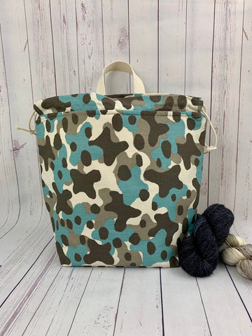 Blue Camo Work Bag