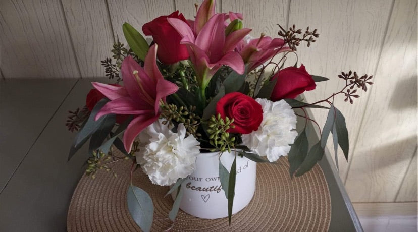 """Beautiful""  Keepsake Vase"