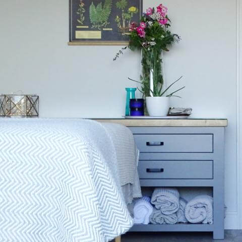 Eco friendly interior, treatment room, facial therapies, Somerset.