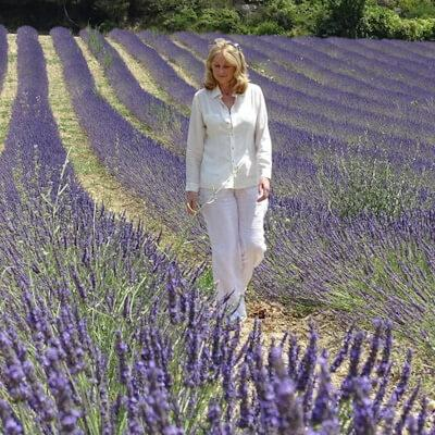 Lucy Stevens in the Lavender Fields, in Provence, 2019.