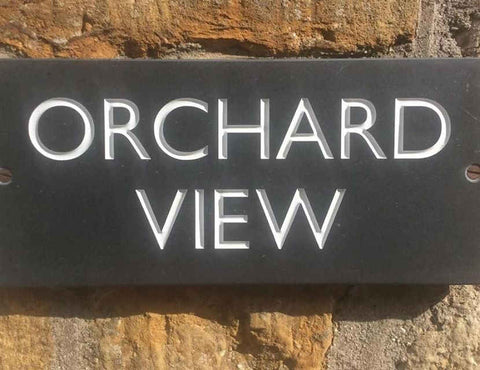 Orchard View sign