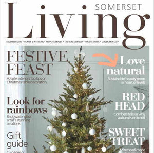 Somerset Living Magazine, front cover, cropped, December 2020.