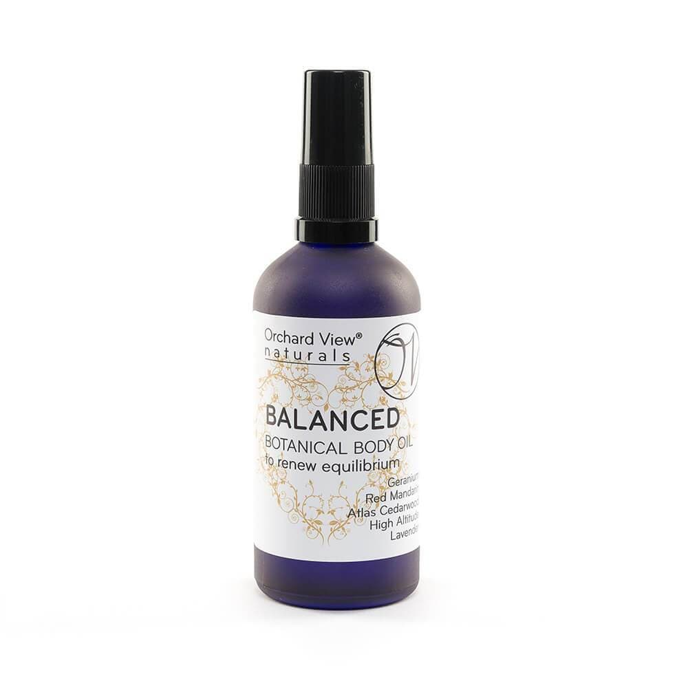 Balanced Body Oil - For equilibrium - 100ml Body Oil Orchard View naturals Pump