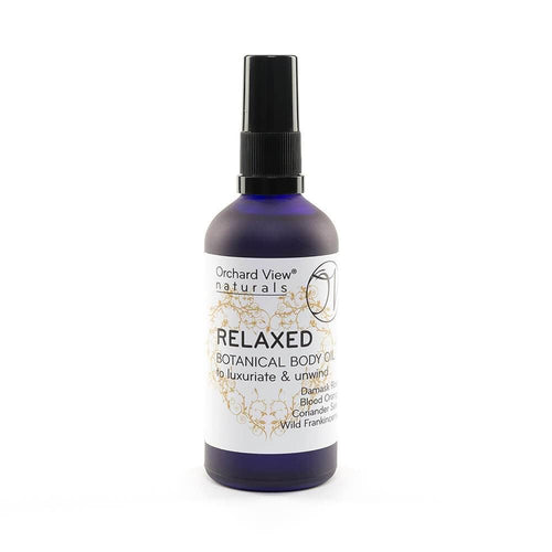 Relaxed Botanical Body oil, to luxuriate & unwind.