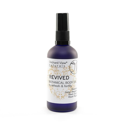 Revived Body Oil - To refresh & fortify - 100ml Body Oil Orchard View naturals Pump