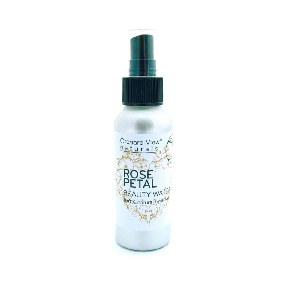 Rose Petal - Beauty Water - 100ml Facial Toner Orchard View naturals Spray Pump