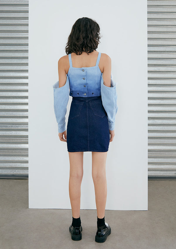 EARLY BIRD Vestido Nicolo Denim Degrade